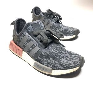 Adidas Women's Gray NMD R1 BY9647 Running Shoes